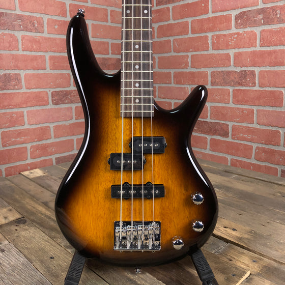 Ibanez GSRM20BS Mikro Short-Scale Bass Guitar Brown Sunburst Rosewood fretboard