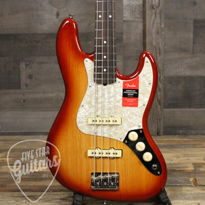 Fender Limited Edition American Pro Light Ash Jazz Bass Rosewood Sienna Sunburst