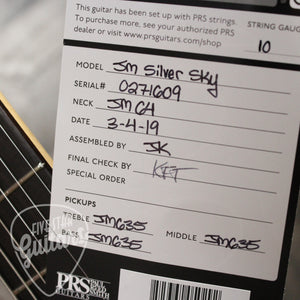 PRS John Mayer Silver Sky - Orion Green with Gig Bag