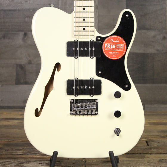 Squier Paranormal Carbronita Telecaster® Thinline, Maple Fingerboard, Olympic White