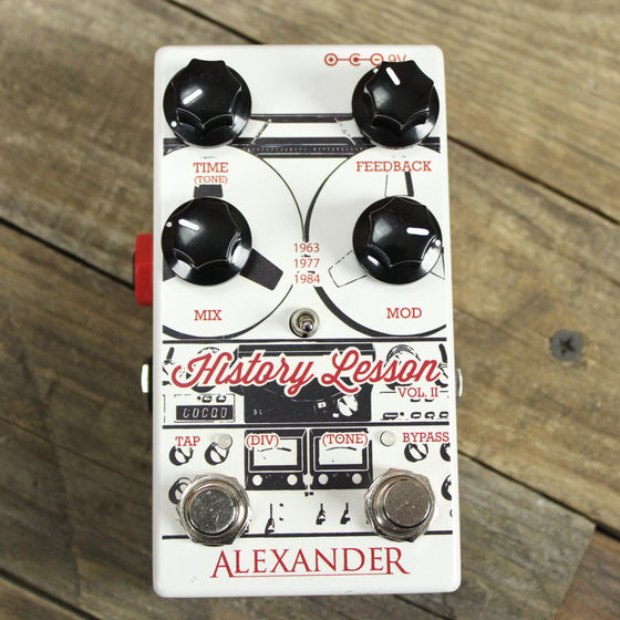 Pre-Owned Alexander History Lesson Vol II Delay and Modulation with Tap Tempo