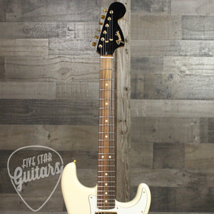Fender Limited Edition Mahogany Blacktop Stratocaster® HHH, Pau Ferro Fingerboard, Olympic White with Gold Hardware
