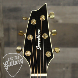 Breedlove Stage Exotic Concert CE Spruce and Ziricote - Headstock Front