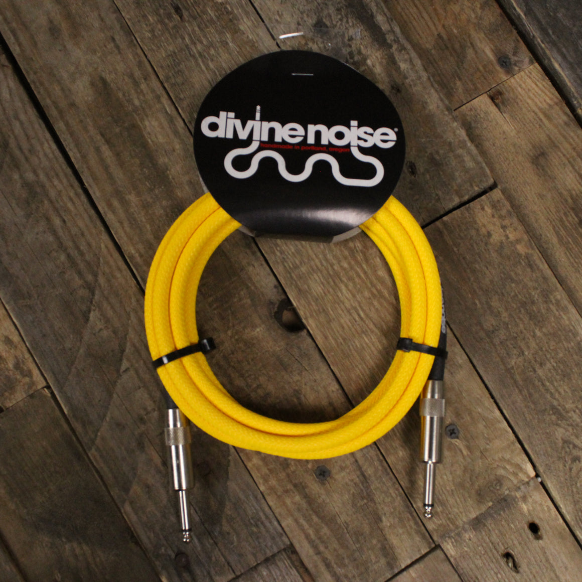 Divine Noise 10' Tech Flex Neon Yellow Cable Straight Straight