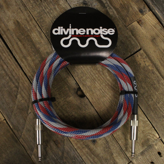 Divine Noise Tech Flex Cable 15ft - Straight, Straight Patriot