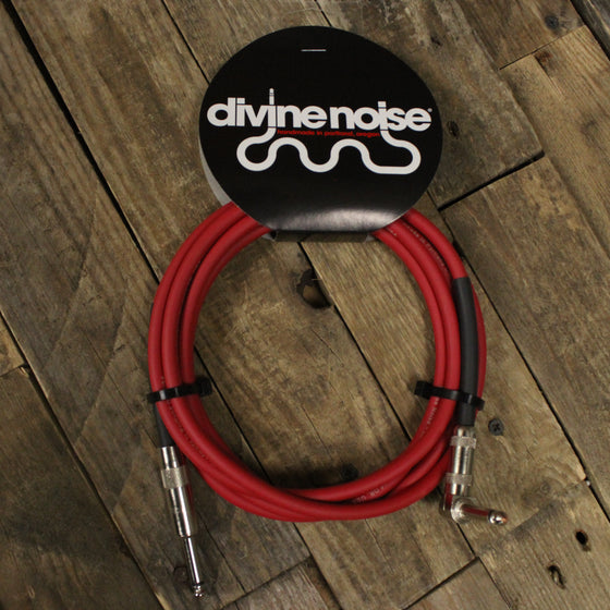 Divine Noise 10 ft Cable Red - Straight, Right Angle