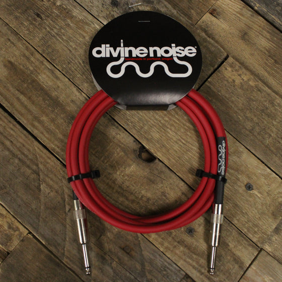 Divine Noise 10 ft Cable Red - Straight, Straight