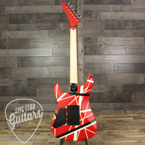 EVH Striped Series 5150 Red with Black and White Stripes