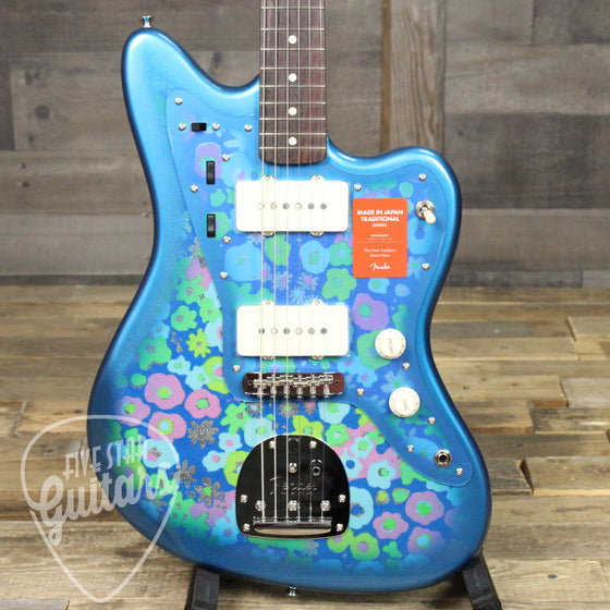 Fender MIJ Traditional 60s Jazzmaster Blue Flower Made in Japan
