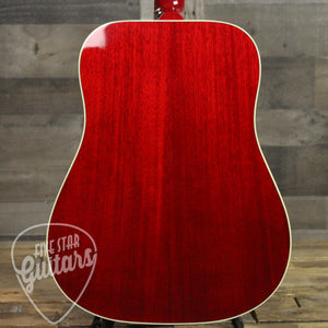 Gibson Hummingbird Acoustic Guitar Vintage Cherry Sunburst - Back