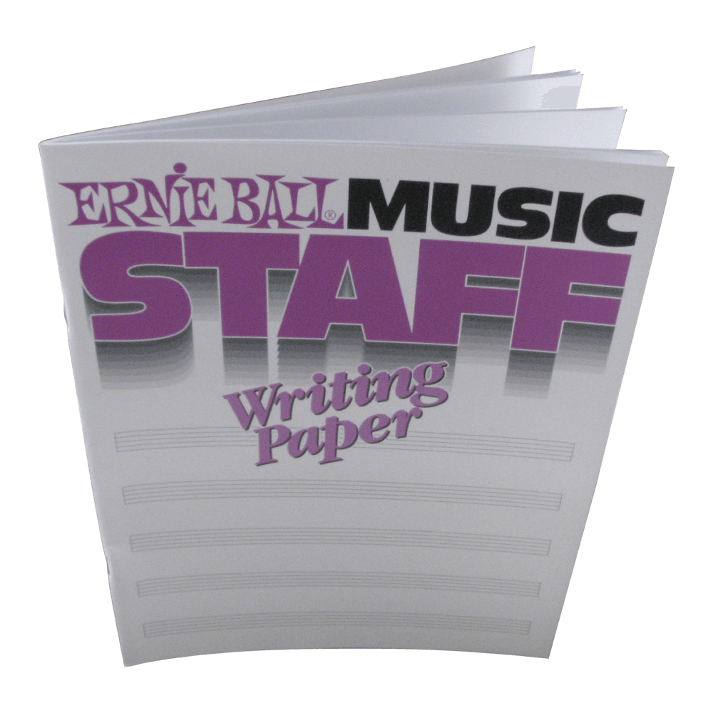Ernie Ball Music Staff Paper Book