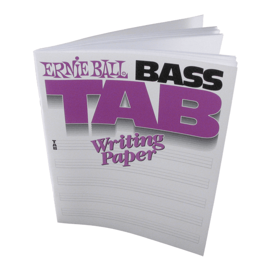 Ernie Ball Bass Tab Book