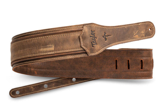 Taylor Wings Distressed Leather Strap, 3""