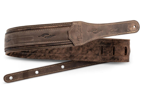 Taylor Element Strap, Dark Brown Distressed Leather 2.5""