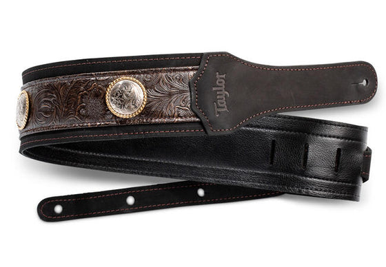 "Taylor Grand Pacific 3"" Nickel Concho Leather Strap"