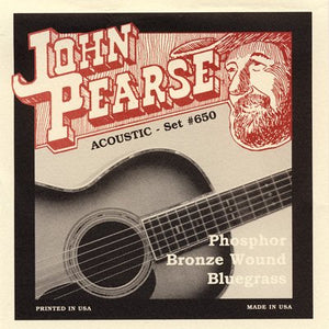 John Pearse PB  650 Bluegrass Acoustic Guitar Strings 12/56