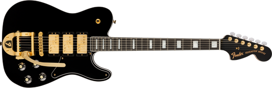 Pre-Order Parallel Universe Volume II Troublemaker Tele Custom 3 Pickup with Bigsby - Black