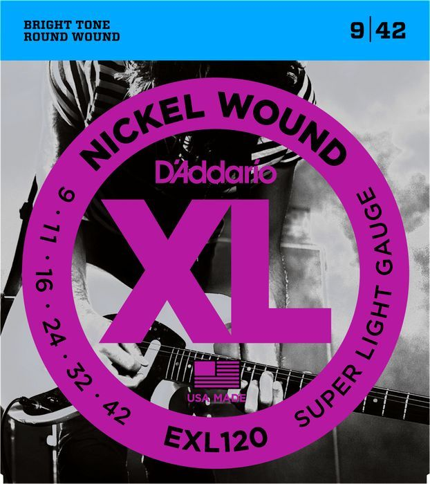 D'Addario EXL120 Electric Guitar Strings 9-42