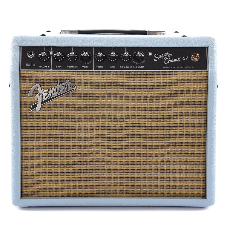 "Fender Limited Super Champ X2 1x10"" 15-Watt Guitar Combo Sonic Blue"