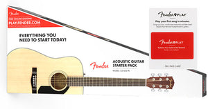 Fender CD-60S Pack with FREE 3 Month Fender Play Subscription