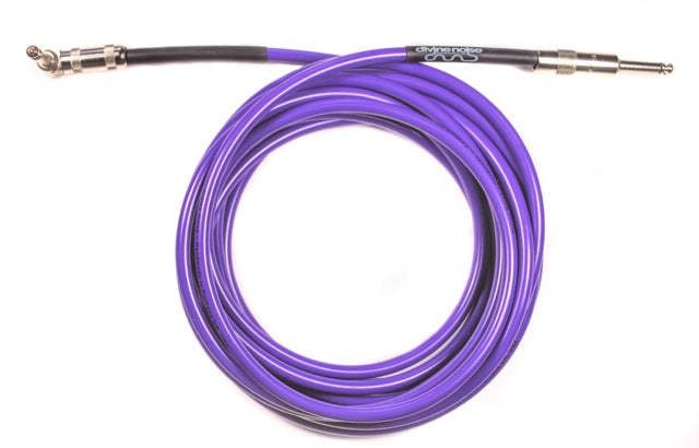 Divine Noise 5ft Cable Purple - Straight to Right Angle
