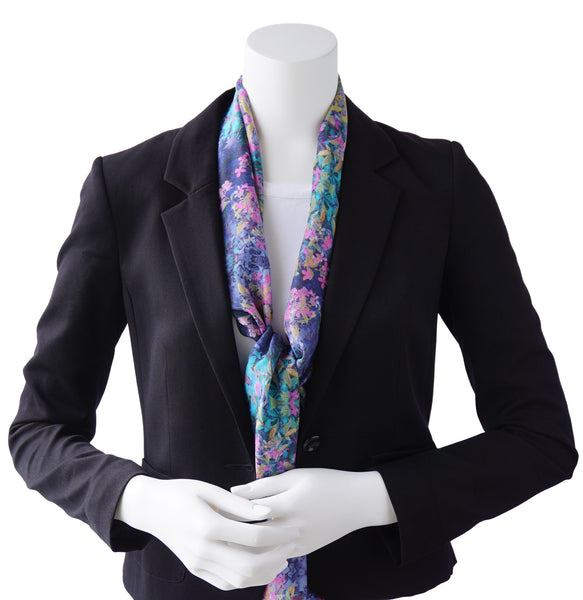 Blue Mountain Garden Oblong Scarf