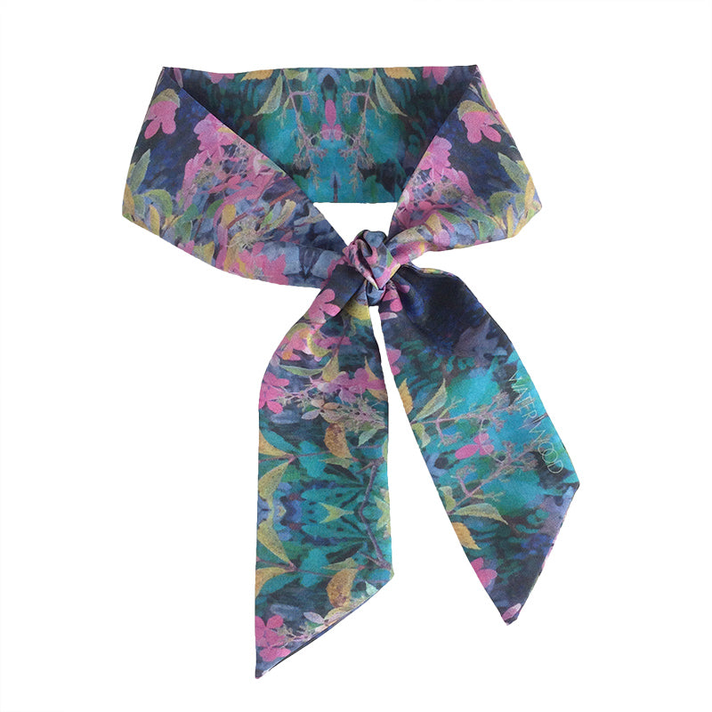 Blue Mountain Garden Twilly Scarf