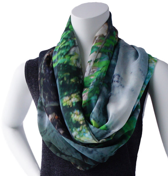 Happy Valley Birch Silk Georgette Wrap