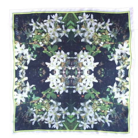 Happy Valley Raspberry Flowers Neckerchief
