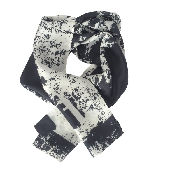 White Pine Black Oblong Scarf