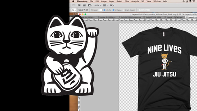 Professor Puss Tee Shirt - The Creation Process
