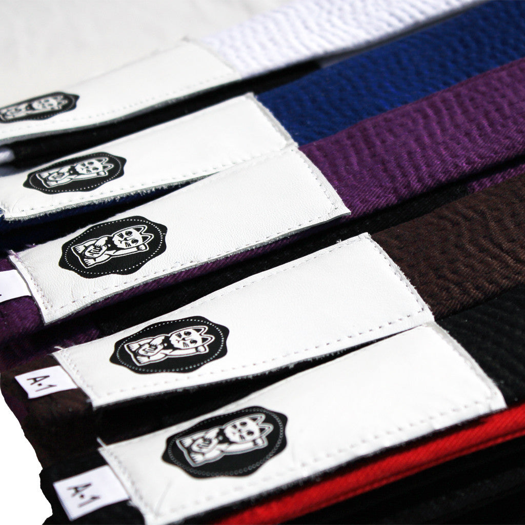 CYA BJJ Belt Nine Lives with Genuine Leather