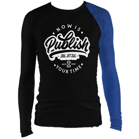 Faixa Azul  - Publish Jiu Jitsu Rash Guard - by Nine Lives - Nine Lives Jiu Jitsu