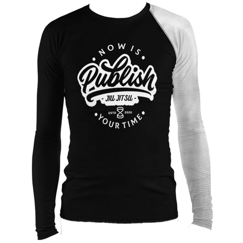Faixa Branca  - Publish Jiu Jitsu Rash Guard - by Nine Lives - Nine Lives Jiu Jitsu