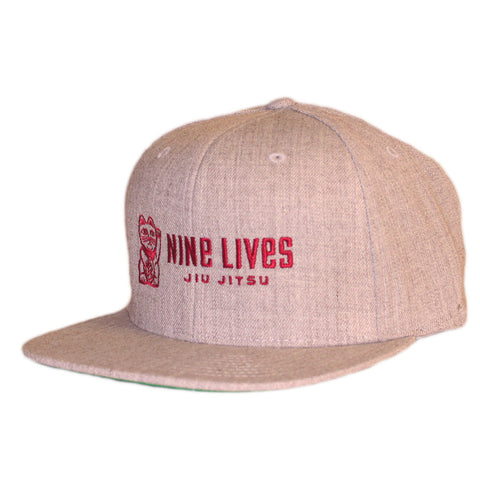 Money Snapback - Gray - Nine Lives Jiu Jitsu