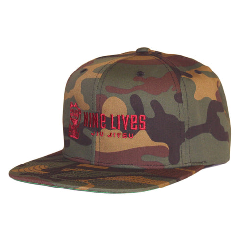 Money Snapback - Camo - Nine Lives Jiu Jitsu