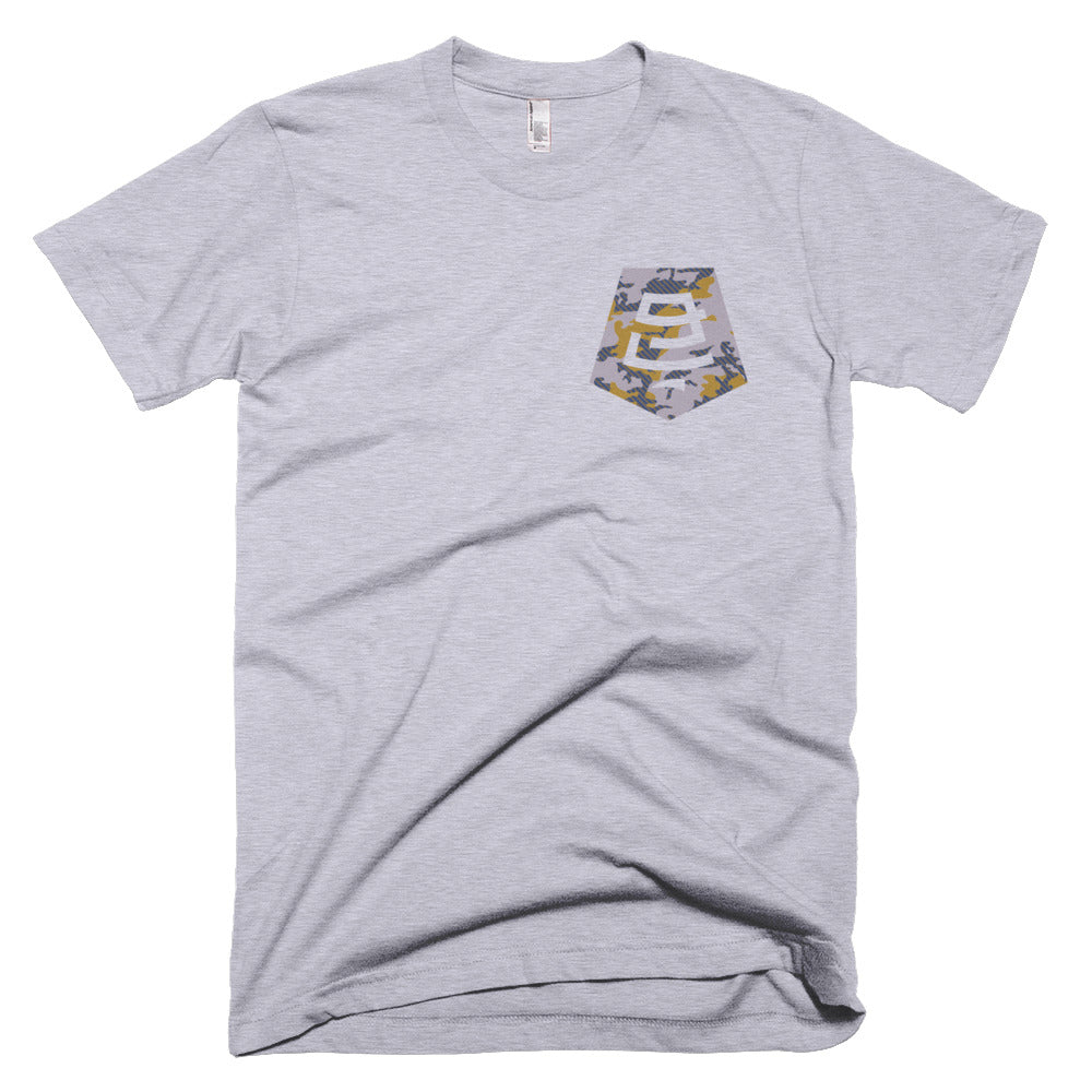 Badge Camo Tee - Grey