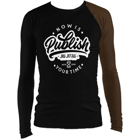 Faixa Marrom - Publish Jiu Jitsu Rash Guard - by Nine Lives - Nine Lives Jiu Jitsu