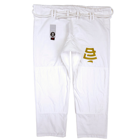 Classic - White and Gold Gi Pants - Nine Lives Jiu Jitsu