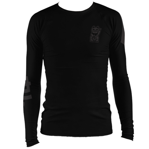 Black on Black Rashguard - Nine Lives Jiu Jitsu