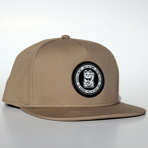 Lucky Snapback - Tan - Nine Lives Jiu Jitsu