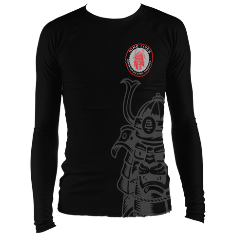 Samurai Cat Rash Guard - by Nine Lives - Nine Lives Jiu Jitsu