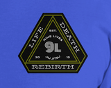 Life and Death Tee - Blue