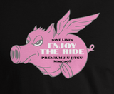 Enjoy The Ride Tee - Black - Nine Lives Jiu Jitsu
