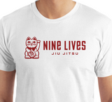 Nine Lives Type Tee - White