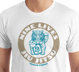 Money Tiger Tee - White - Nine Lives Jiu Jitsu