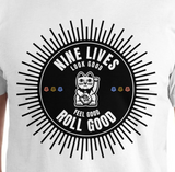 Roll Good Tee - White - Nine Lives Jiu Jitsu