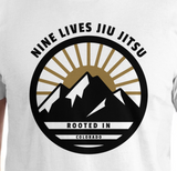 Colorado Tee - White - Nine Lives Jiu Jitsu