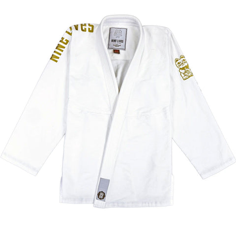 Classic - White and Gold - Nine Lives Jiu Jitsu