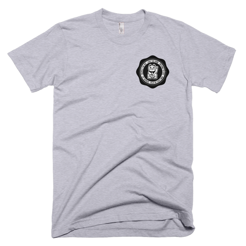 Nine Lives Seal Tee - Heather Grey